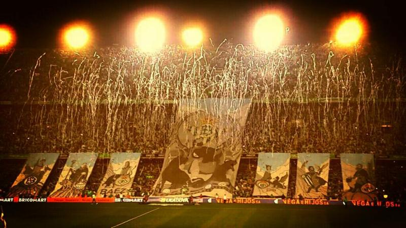 Real betis Murals in the Seville derby